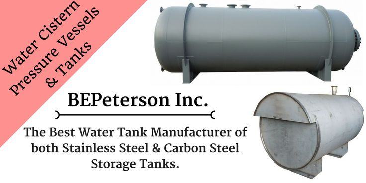 BEPeterson manufacturers both stainless steel and carbon steel storage tanks for liquid, chemical, water and waste water.