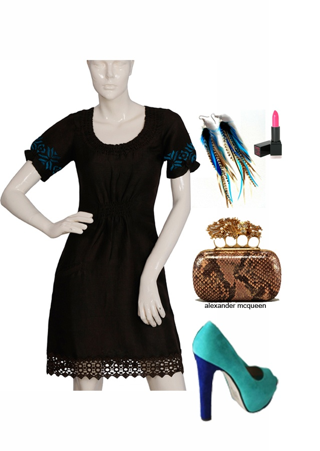 Linen dress-www.beforeafter.in