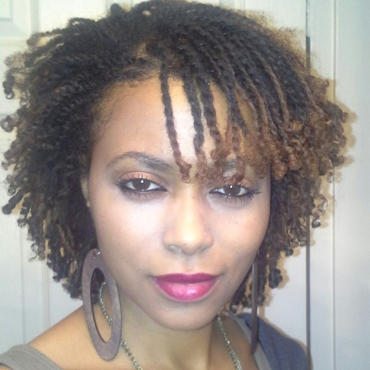 untouchmyhair:  Double strand twist with ends set on perm rods #naturalbeautybee