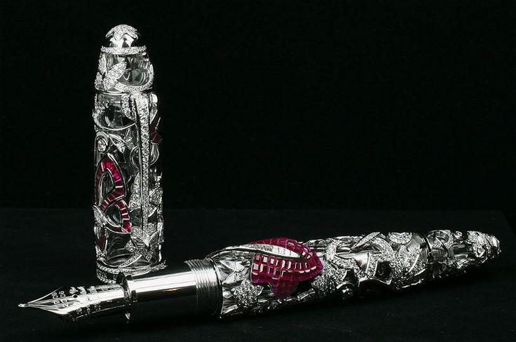 Der teuerste Federhalter der Welt: Mystery Masterpiece von Montblanc. Der Füller kostet 730 000 Dollar.