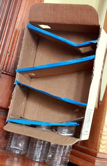 upcycle any cardboard box and use the box flaps as ramps to run toys down