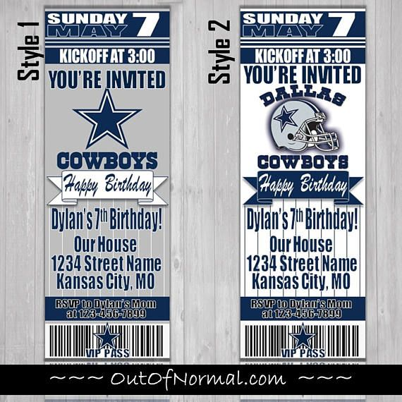 The 25 best Dallas cowboys tickets ideas – Dallas Cowboys Party Invitations