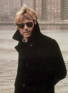 classic pea coat aviators and one good looking Redford!