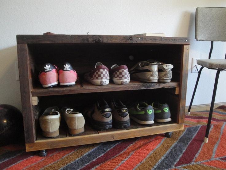 fox custom handmade reclaimed recycled wooden shoe rack storage shelf via etsy