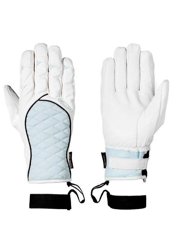 Womens Oakley Juniper Winter Gloves Leather SKI Snowboard Blue