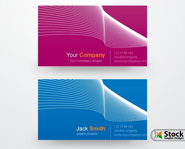 graphic designer visiting cards design vectors www