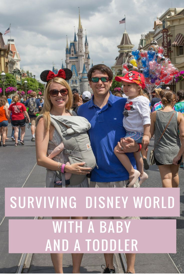 All the best tips and tricks for how to survive Disney World with a baby and a toddler and have a great time!