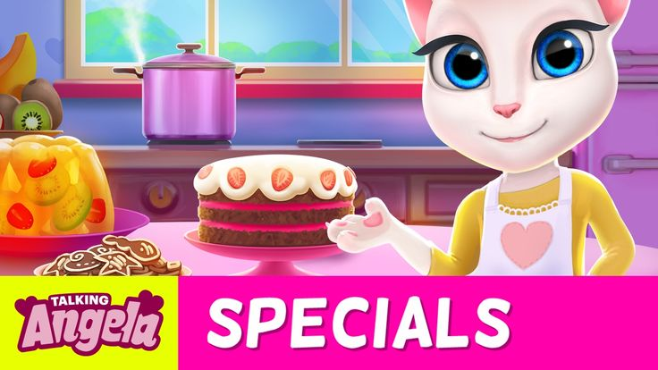 My Talking Angela - Time for Cake! xo, Talking Angela #TalkingAngela #LittleKitties #MyTalkingAngela