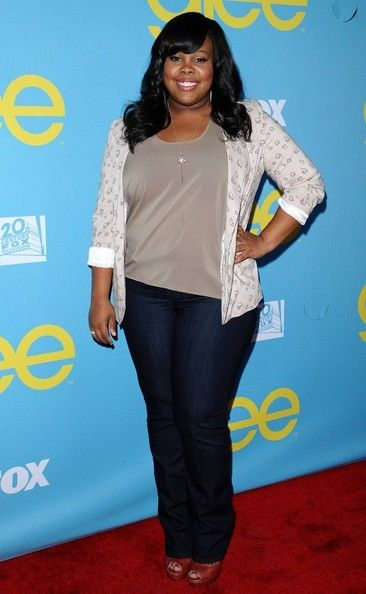 Amber Riley Bootcut Jeans - Amber Riley Clothes Looks - StyleBistro