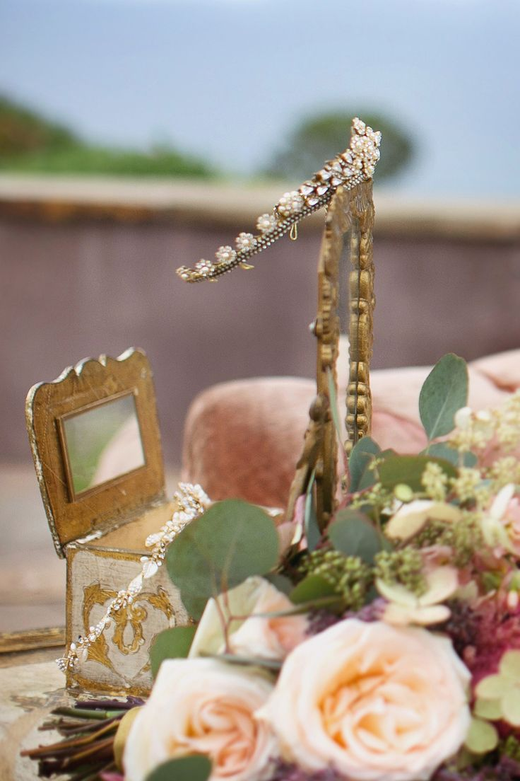 Jeweled Table Numbers -- See more wedding inspiration on #SMP here: http://www.StyleMePretty.com/california-weddings/2014/05/01/majestic-fairytale-wedding-inspiration/ Photography: MariaLonghi.com