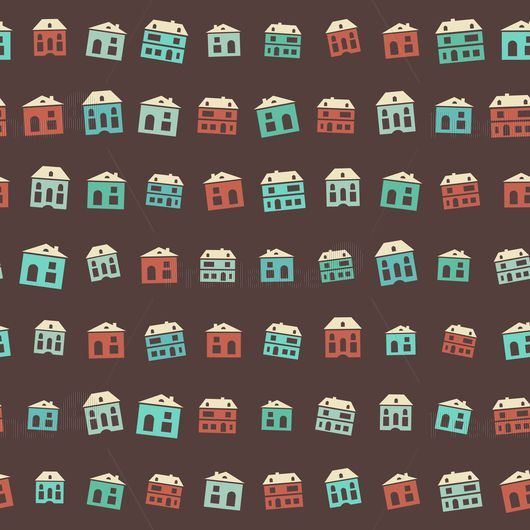 Pattern seamless houses Buy vector for $ 3 #pattern #design #house #vector #creative #freelancediscount