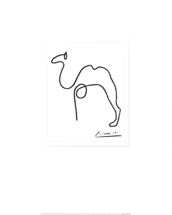 Detail The Camel by Pablo Picasso Fine Art Print Cubism Poster 16x20