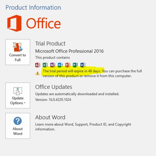 Best Way to Convert Microsoft Office 2016 Trial Version into Full Version without Reinstalling