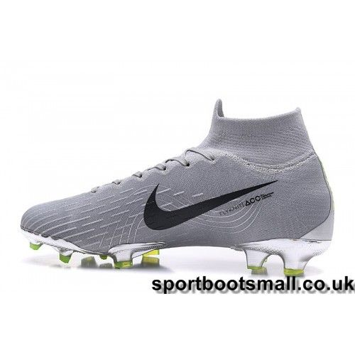 046bcd2ff Nike Mercurial Superfly VI 360 Elite FG Mens Football Boots -  Grey Black Green Clearance - Nike Football Boots Studs
