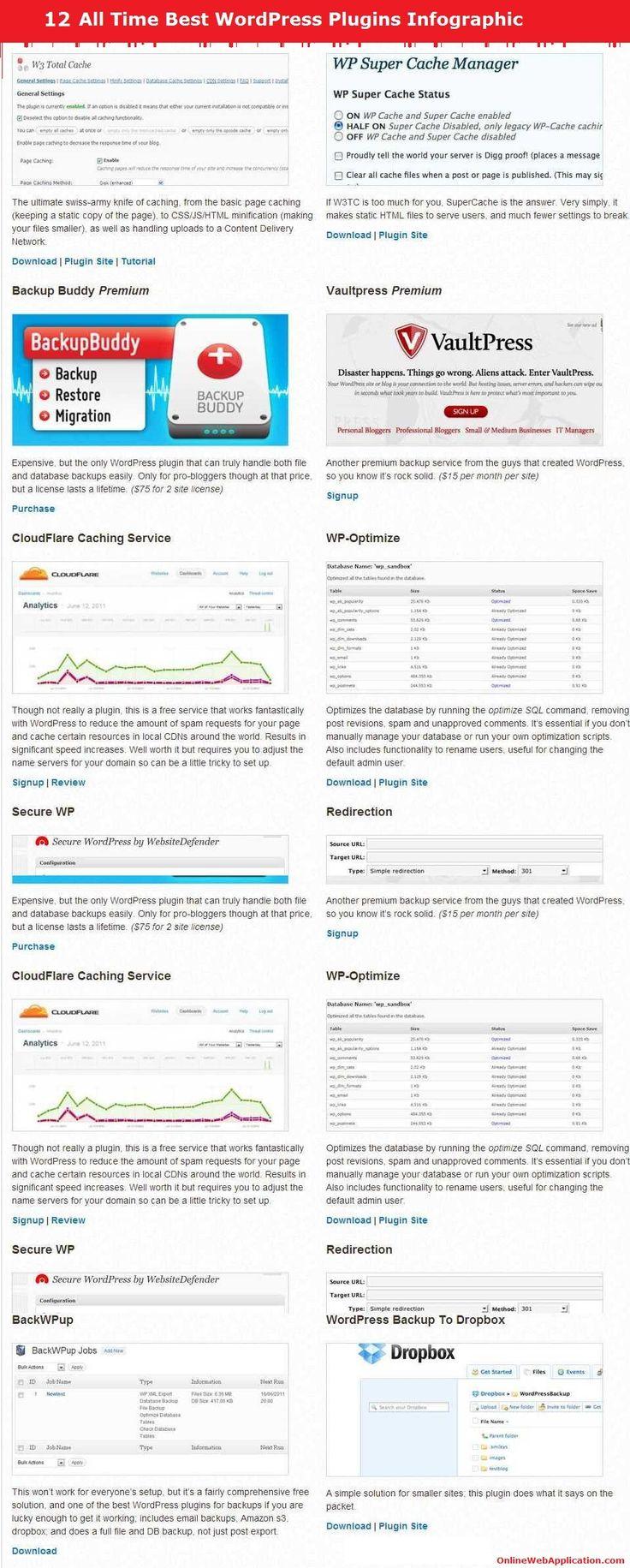 Best Wordpress Plugins Infographic