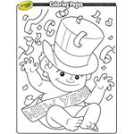 A few coloring pages for New Year's Eve