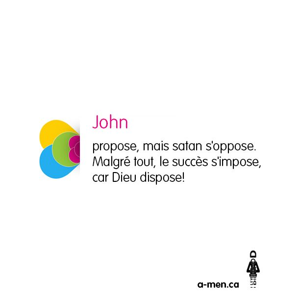 John propose… http://www.a-men.ca/ http://www.fb.com/a.men.ca #amen