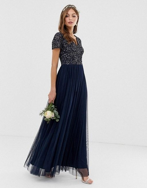 bridesmaid dresses for 150 or less embellished bridesmaid