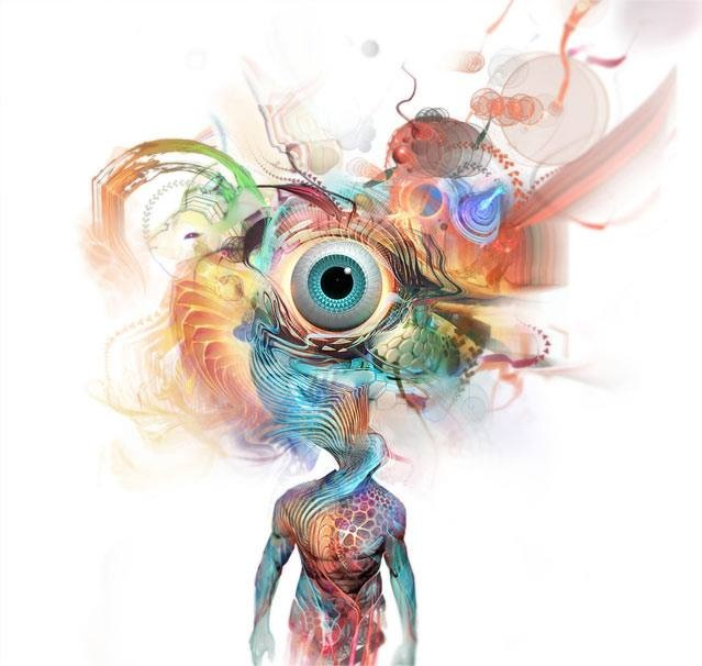 Image result for third eye watercolor fractal