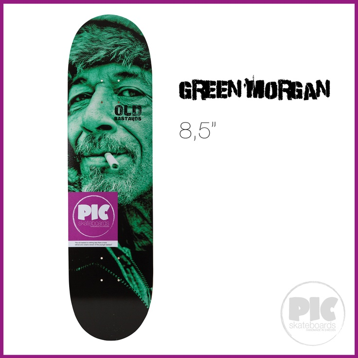 "PIC Skateboards - Green Morgan 9"" via PIC Skateboards."