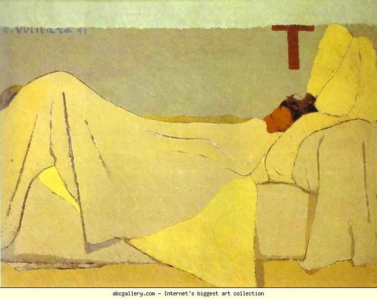 Edouard Vuillard. In Bed/Au lit - always loved the simplicity of this image.