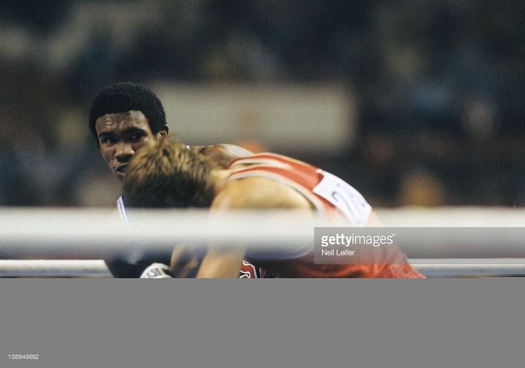 USA Howard Davis Jr. (333) in action vs Romania Simion Cutov (279) during Lightweight Final at Maurice Richard Arena. Neil Leifer