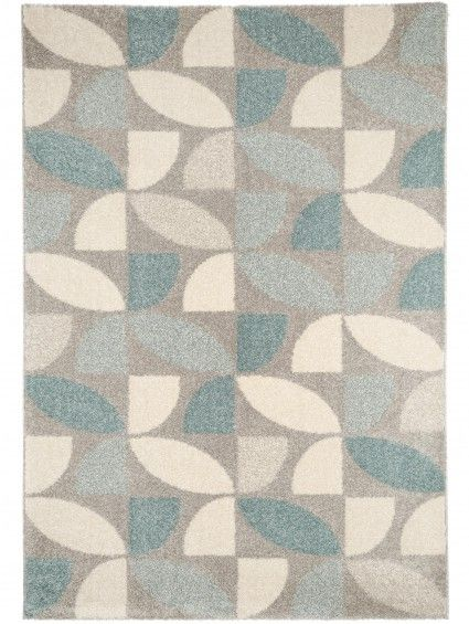 Teppich Pastel Mosaik Blau