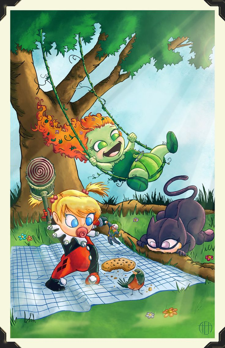 Li'l Gotham City Sirens by Theamat.deviantart.com on @deviantART