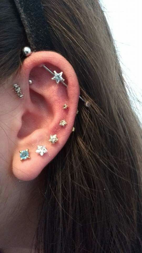 I have an industrial...I'm going to get the rest of my ear like this.