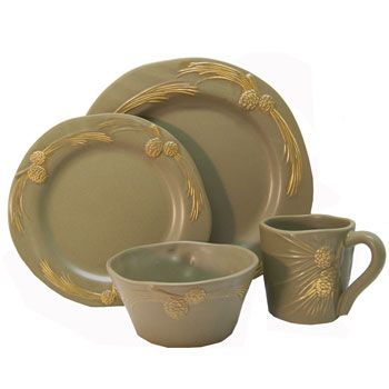 rustic dinnerware sets clearance | bedding sets - Whispering Pines Dinnerware Set  sc 1 st  Pinterest & 21 best Dinnerware images on Pinterest | Rustic dinnerware sets Log ...