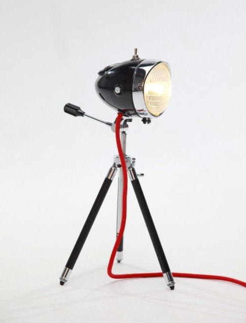 Vintage Automotive Headlights Turned Unique Lamps