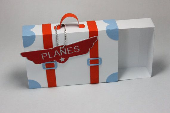 Suitcase Favor Box for Planes party by CraftsbyRosa on Etsy
