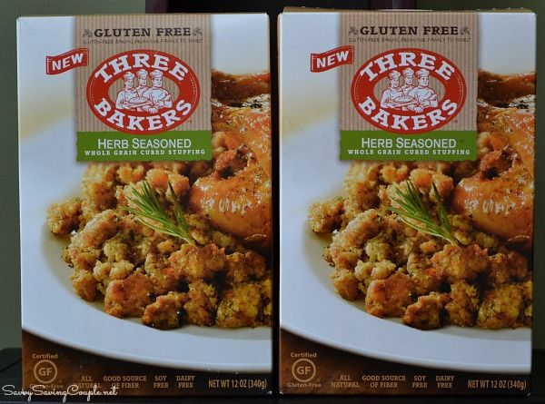 Three Bakers Gluten Free Stuffing Mix-Perfect for the Holidays! #Glutenfree