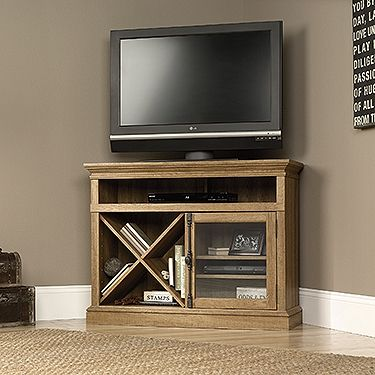 Corner TV Stand from our Barrister Lane Collection has great subtle industrial design.