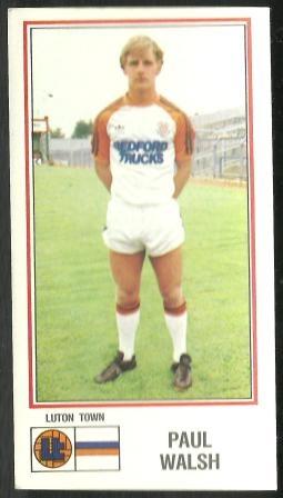 Luton Town - Paul Walsh - Football cards - Year 1983 - Football 83 football cards