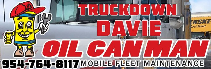 954-764-8117 Truckdown Davie Looking for Roadside. Call Dispatch Right Now. We're Open!  http://oilcanman.com/truckdown-davie/  #DavieTruckdown #TruckdownDavie   Oil Can Man 954-764-8117 730 NW 7th St Oakland Park, FL 33311 Repairs@OilCanMan.com www.OilCanMan.com