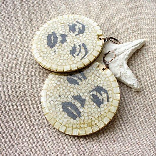 MM - okrągłe kolczyki z mikromozaiki