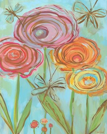 """Lollipop Flowers"" Canvas Art for Girls by Carter Carpin for Oopsy Daisy, size 24x30 $159"