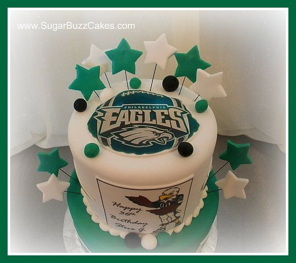 38 best Philadelphia Eagles Cakes images on Pinterest Cake images
