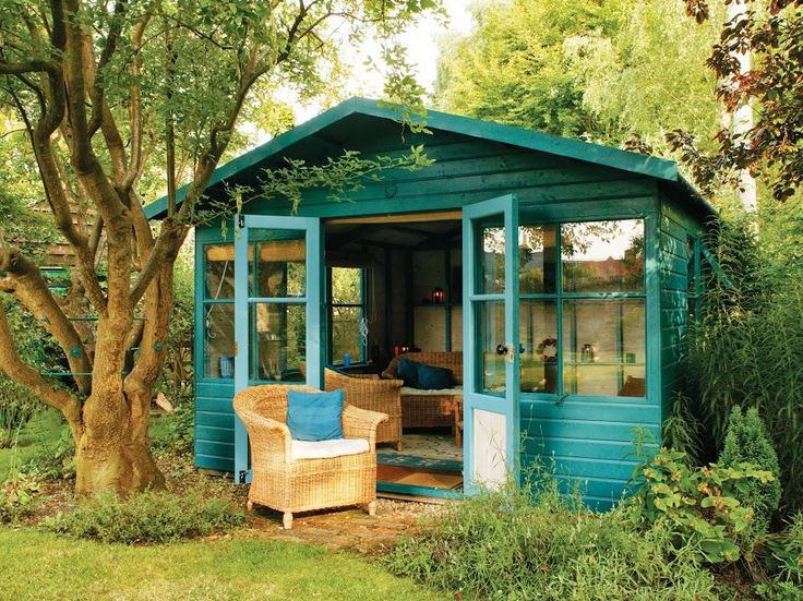 Converting an old shed into an outdoor retreat. Now if I only had an outdoor shed....or a yard big enough for one...