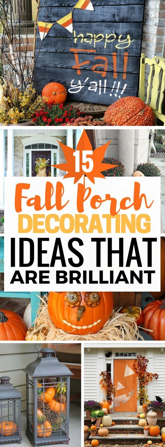 Is the Fall your favorite season too? Decorating the home with diy pumpkin crafts and fake leaves are so much fun and the home decor always turns out looking amazing! I can't wait to try out these fantastic diy fall porch decorating ideas that are so easy and cheap. You're going to LOVE this one. I promise!