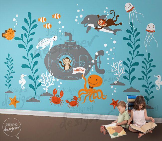 Underwater Adventure Kids Wall Decal