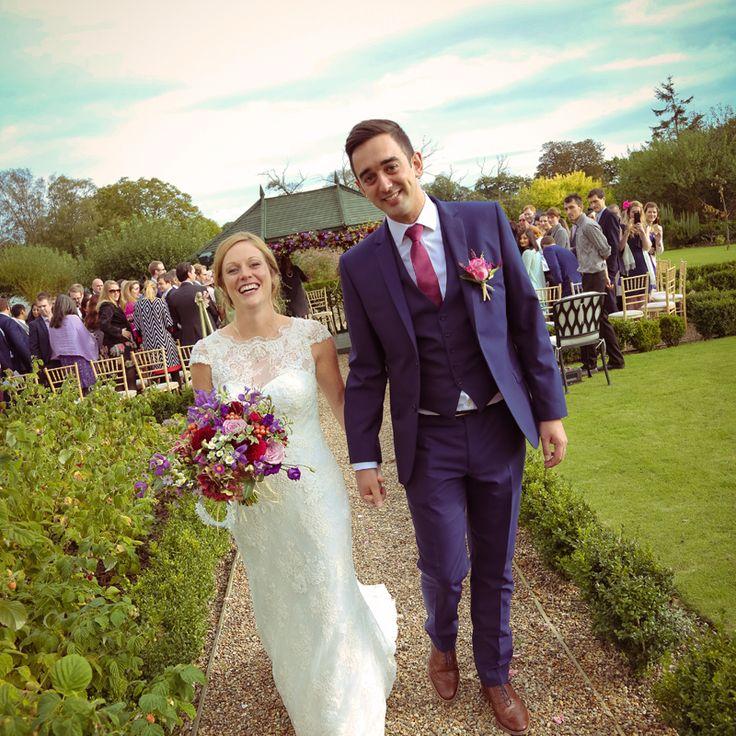 Happy couple just got married #wedding #weddingphoto #weddingphotography #weddingideas #secretgardenkent #photography #kentwedding #kent