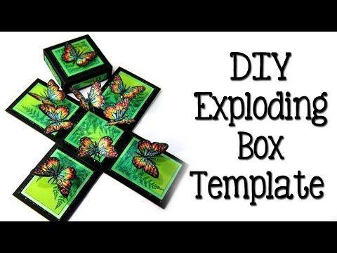 DIY EXPLODING BOX VALENTIJNS KAART | Welke onzin of zinnig - YouTube
