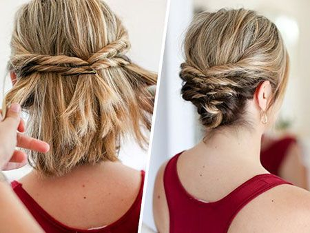 1-Easy-Hochsteckfrisur für kurzes Haar 2-Cute Low Bun 3- Einfacher Stil, Haar-H…