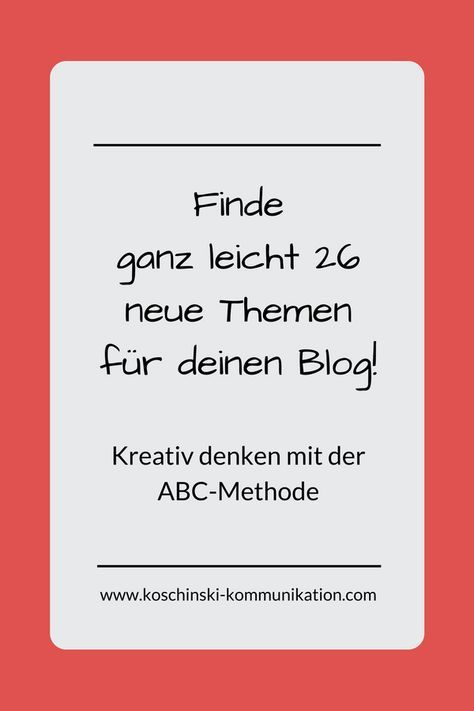 So findest du neue Themen für deinen Blog: Die ABC-Methode – Aram und Abra – Illustrationen und Portraits | Hund & Kunst