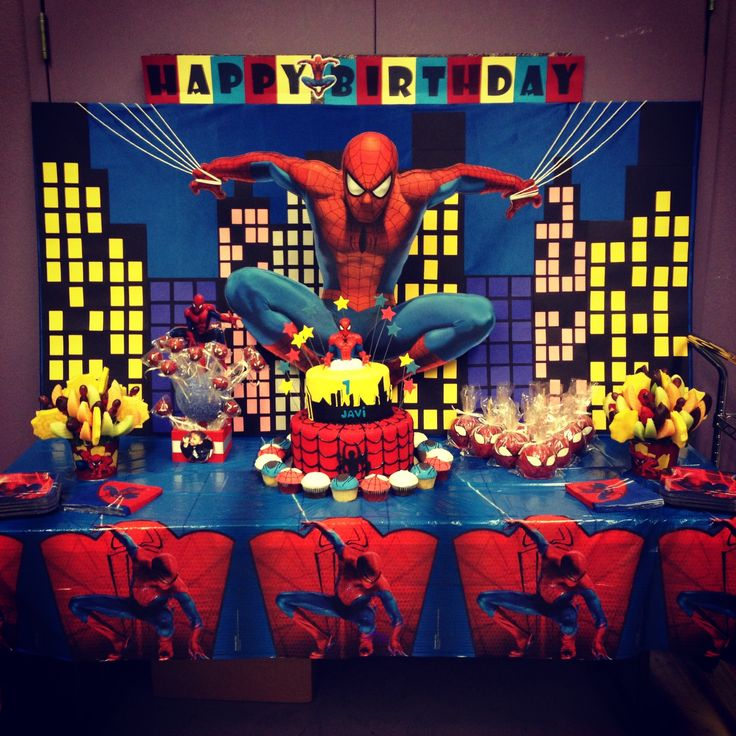 Spiderman backdrop banners backdrops and buntings for Spiderman decorations