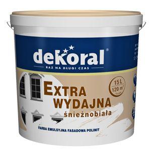 Farba emulsyjna POLINIT przeznaczona jest do malowania elewacji budynków oraz ścian wewnątrz pomieszczeń.