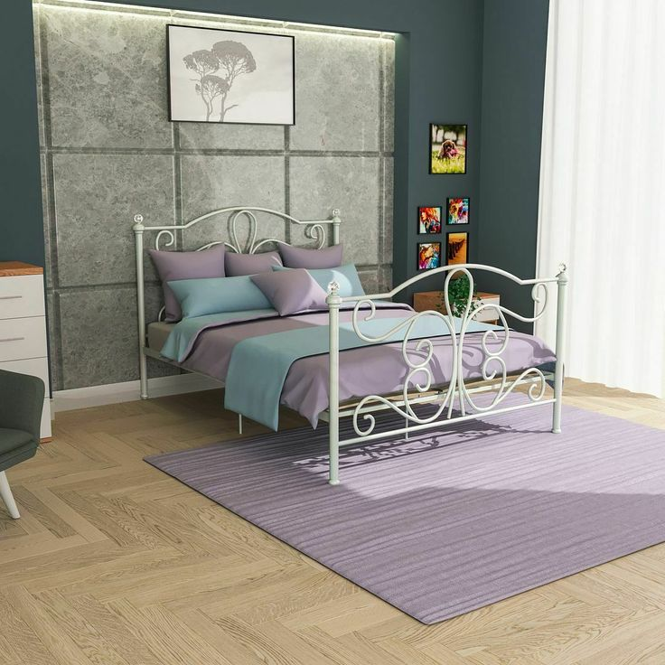Bed Frame Crystal Finials In 2020 White Metal Bed Bed