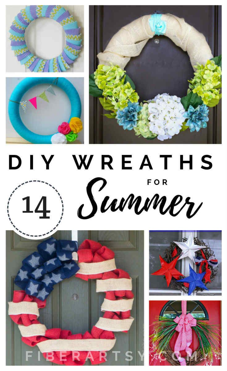 Diy Summer Wreath Ideas Summer Diy Summer Wreath Make Your Own